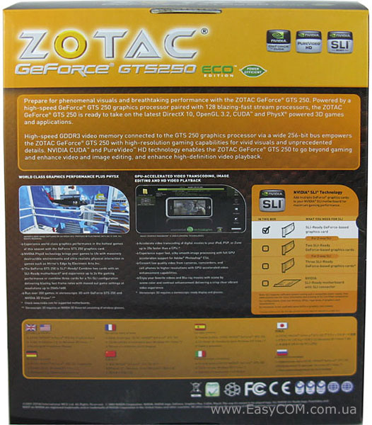 ZOTAC GeForce GTS 250 Eco