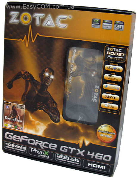 ZOTAC GeForce GTX 460 1 ГБ GDDR5 (ZT-40402-10P)