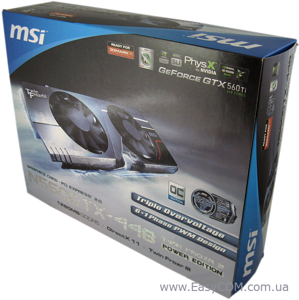 MSI GeForce GTX 560 Ti 448 Cores Twin Frozr III Power Edition/OC