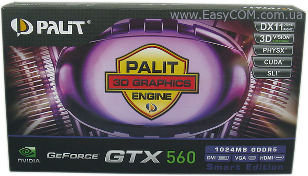 Palit GeForce GTX 560 SE (Smatr Edition)