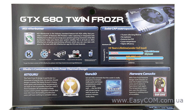 MSI N680 GTX Twin Frozr 2GD5/OC box rear