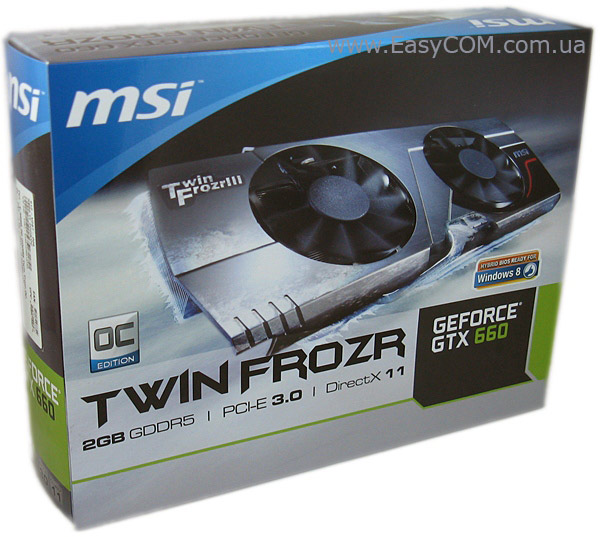 MSI GeForce GTX 660 2 ГБ GDDR5 Twin Frozr III box