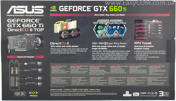 Asus GeForce GTX660 TI-DC2T-2GD5 Driver for Windows Download