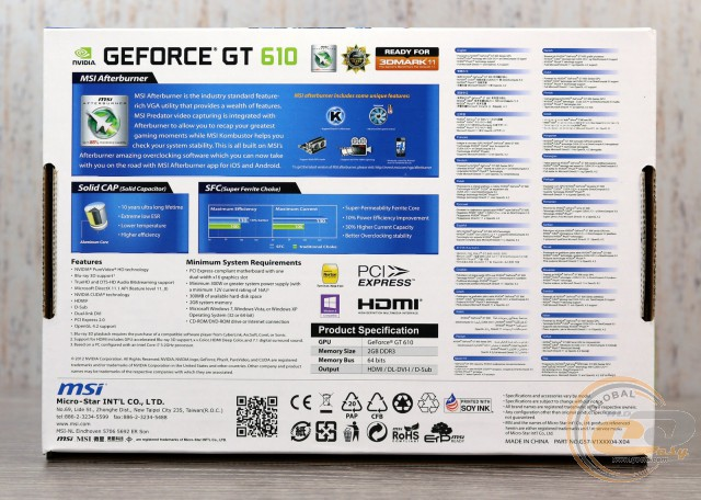 MSI GeForce GT 610 (N610GT-2GD3H/LP)
