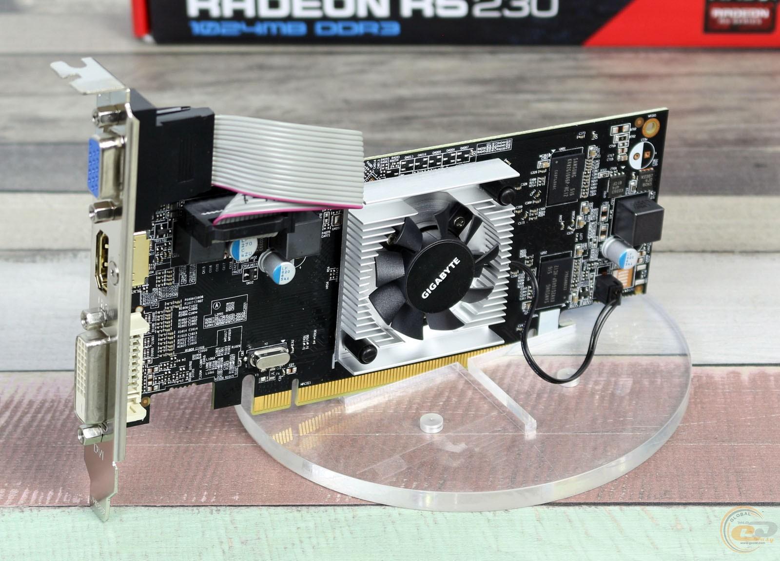 Обзор и тестирование видеокарты GIGABYTE Radeon R5 230 1GB