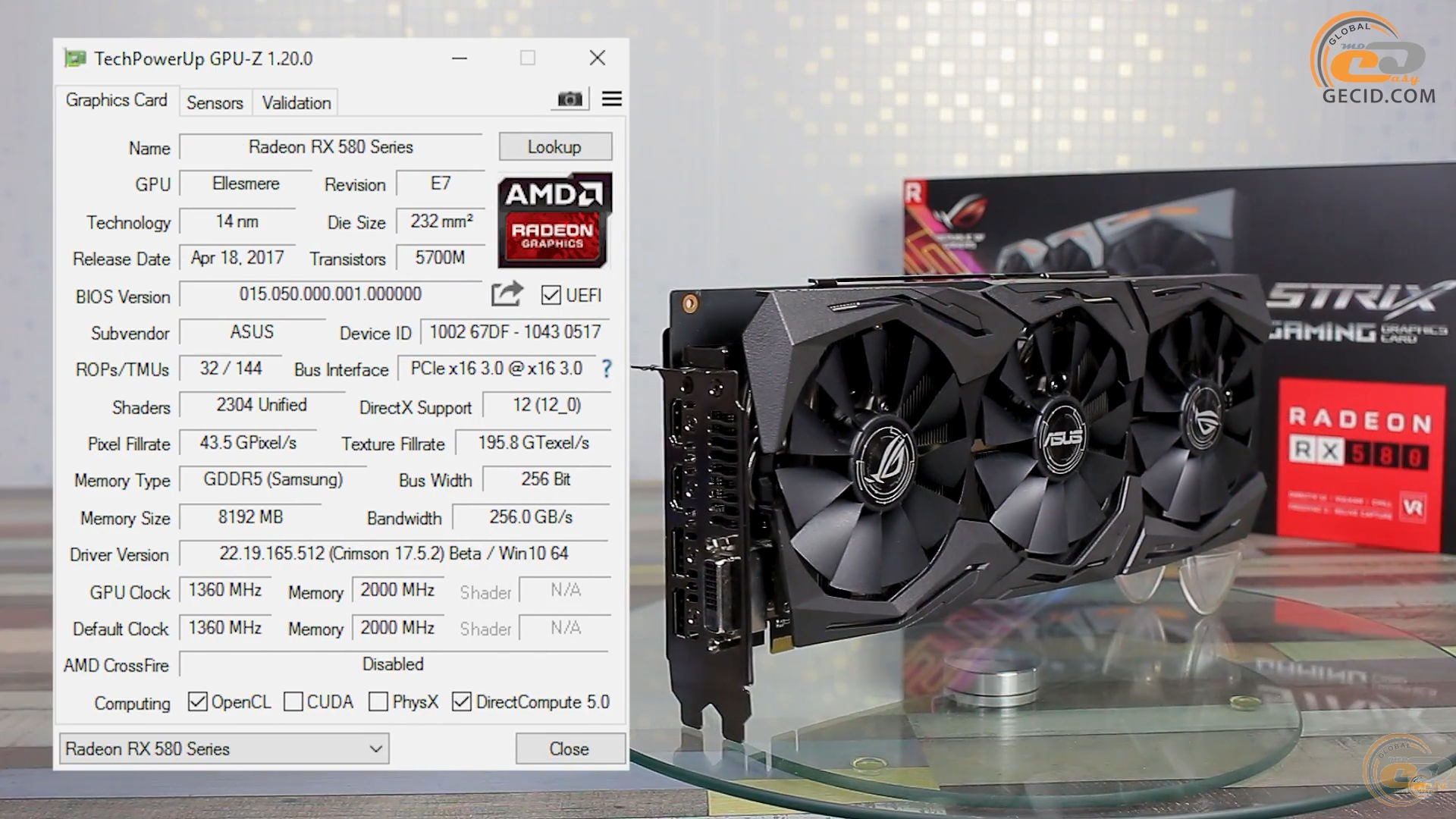 Сравнение Radeon RX 580 8GB vs GeForce GTX 1060 6GB в 15