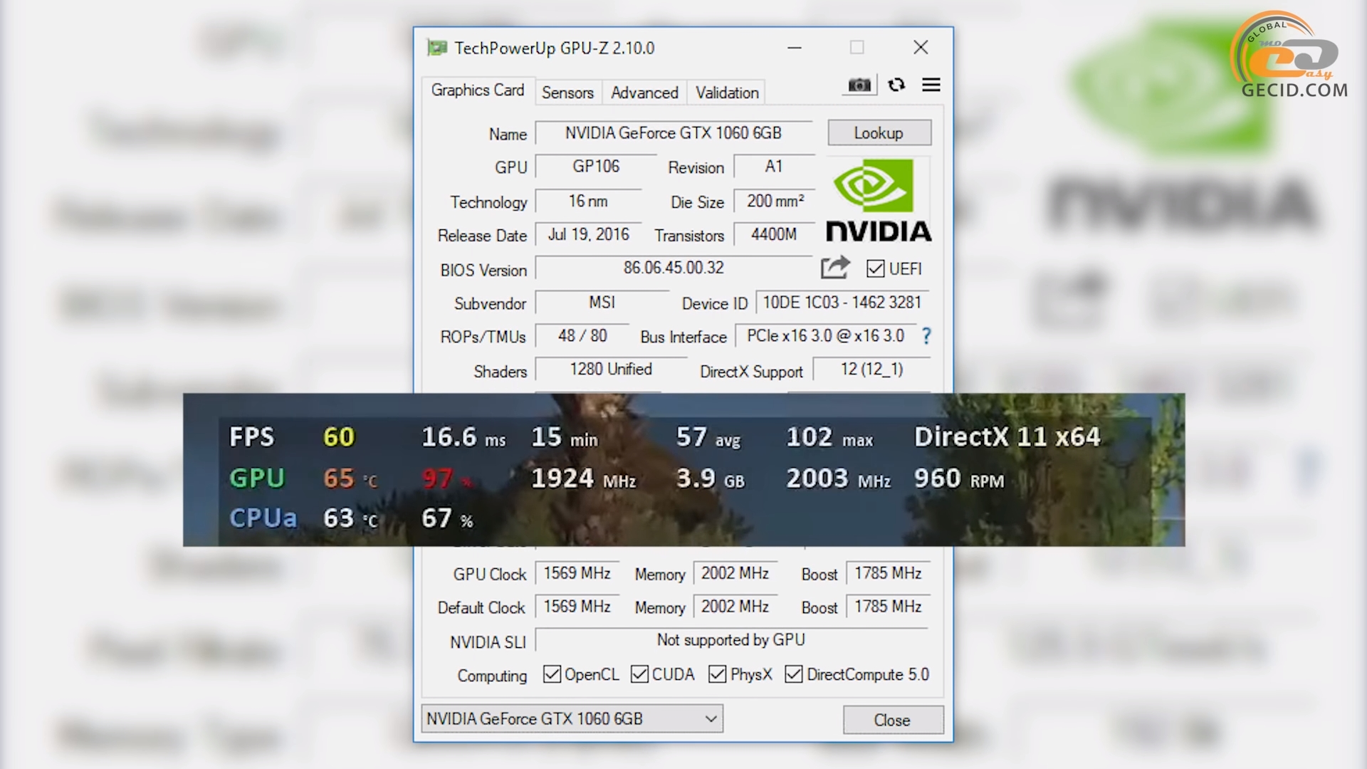 Геймплейное тестирование NVIDIA GeForce GTX 1060 6GB в 34 играх в