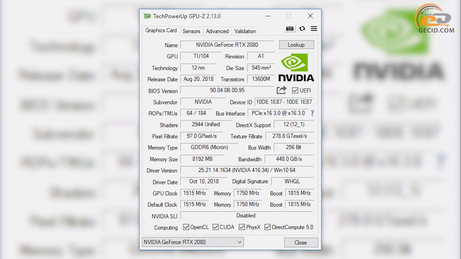 Сравнение видеокарты NVIDIA GeForce RTX 2080 с GTX 1080 Ti