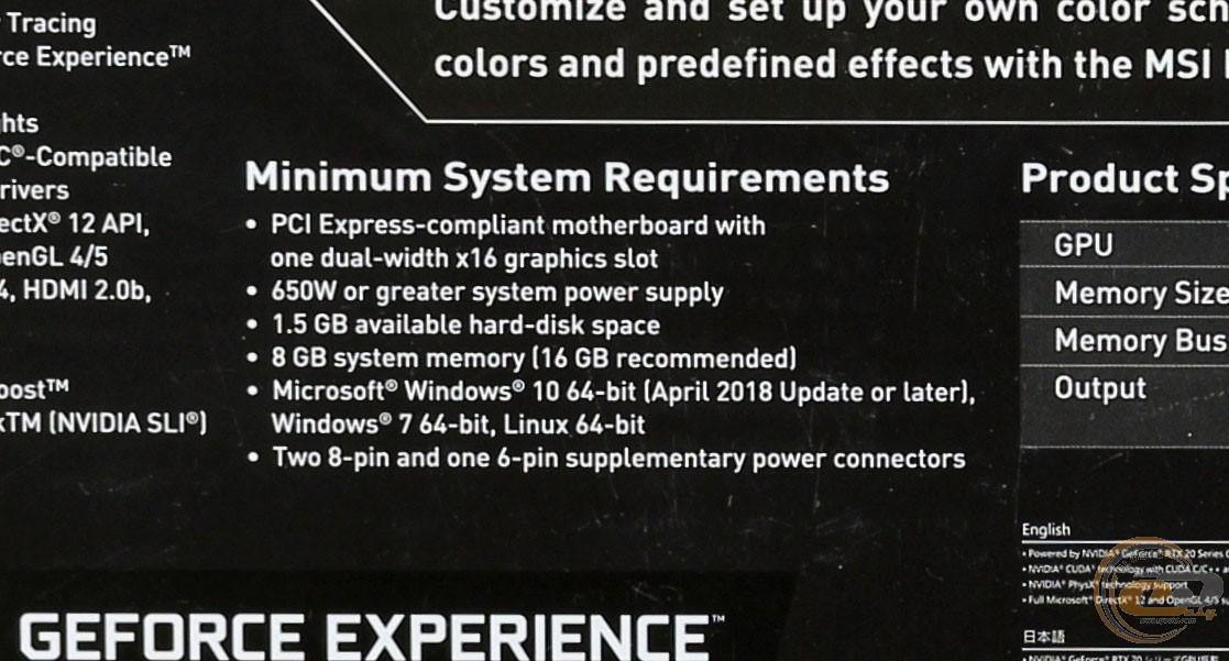 Обзор и тестирование видеокарты MSI GeForce RTX 2080 Ti