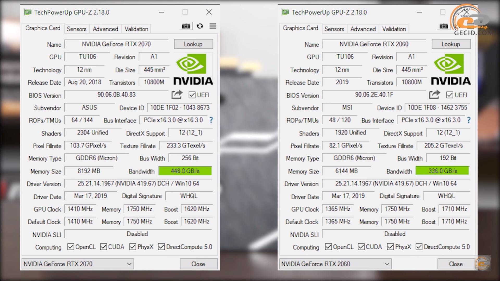 Сравнение GeForce RTX 2060 с RTX 2070, GTX 1070 Ti и RX Vega 56