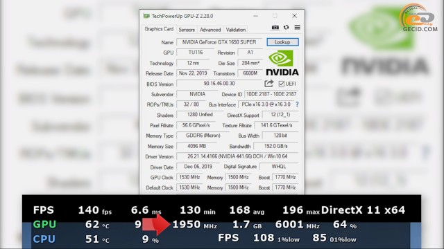 NVIDIA GeForce GTX 1650 SUPER