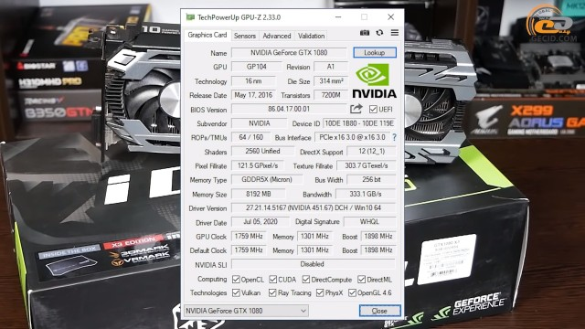 NVIDIA GeForce GTX 1080